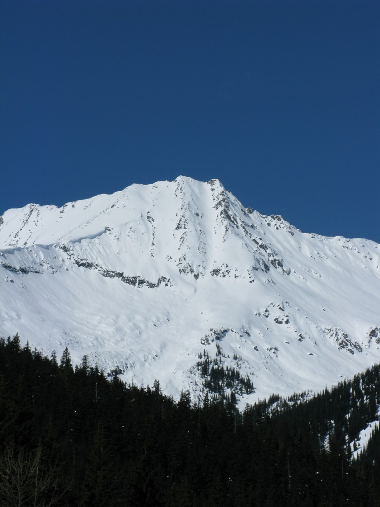 Grizzly Couloir from the NRC car park