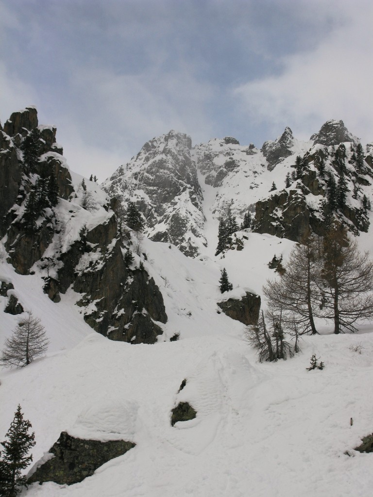 NE Couloir of le Luisin taken from the chair lift