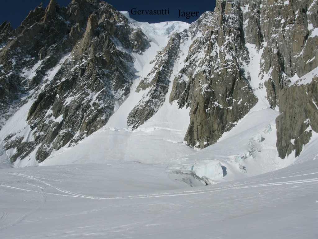 The Jager Couloir and the Gervasutti