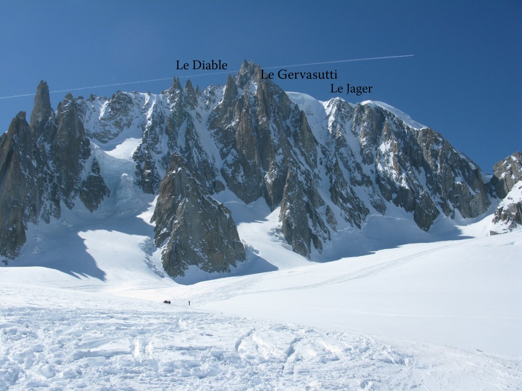 Mont Blanc du Tacul and its couloirs: Le Diable, Le Gervasutti, Le Jager