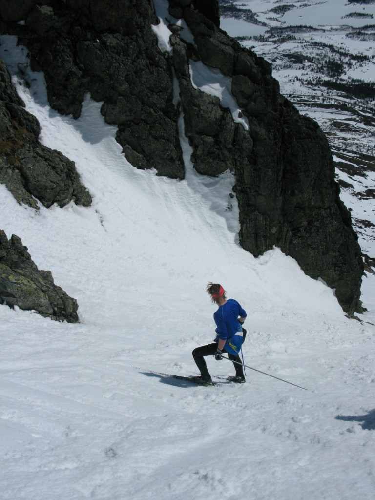 Simen in his lycra and cross country skis!