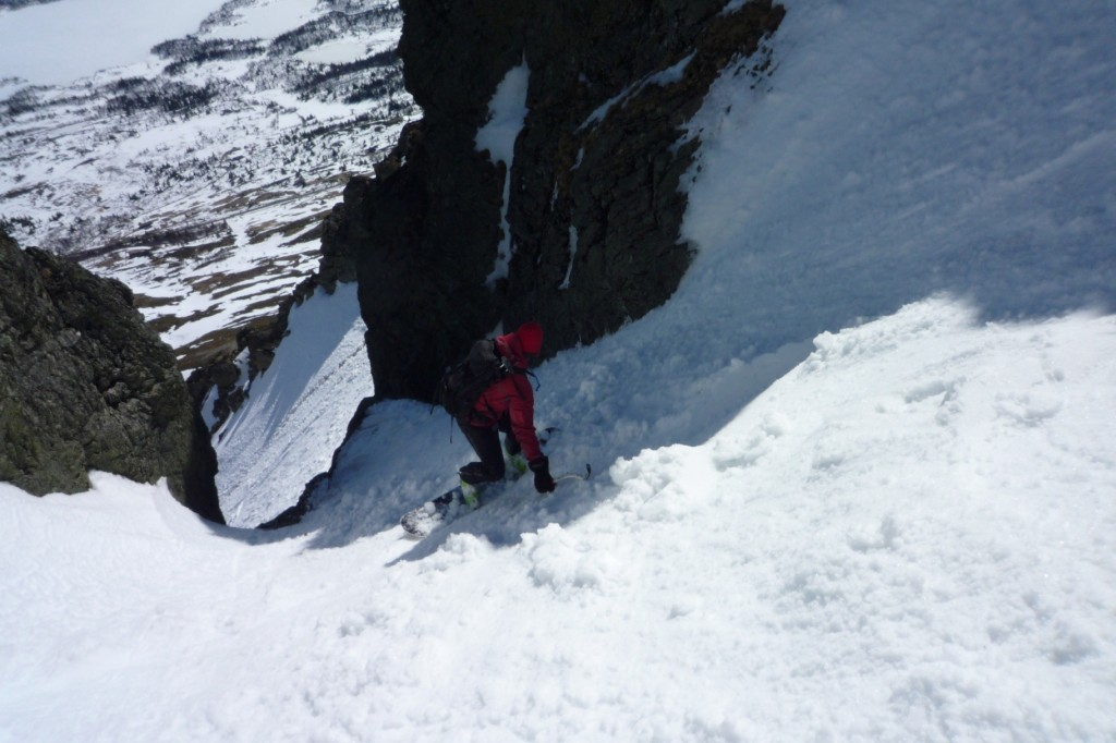 Just above the crux