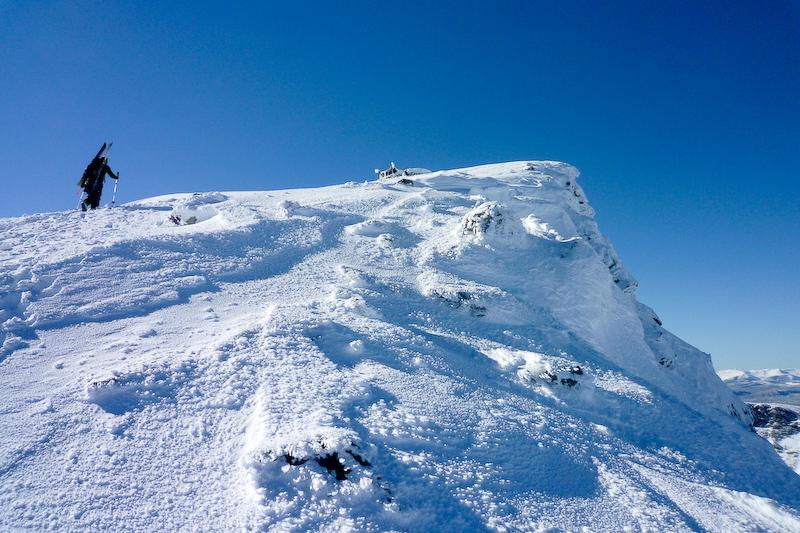 Metres from the summit of Galdhøppigen.