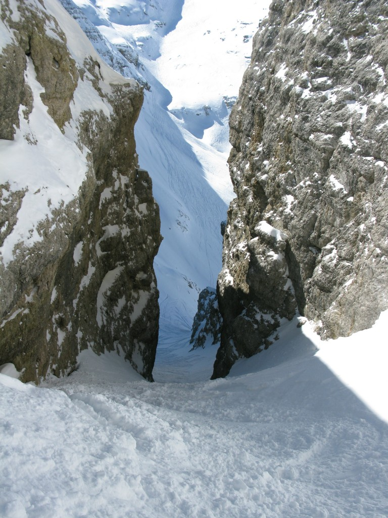 Exit of the couloir