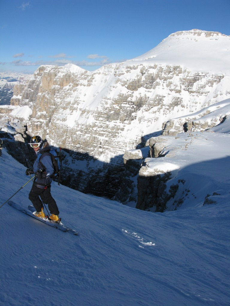 Sigurd at the entrance to Val Mesdi