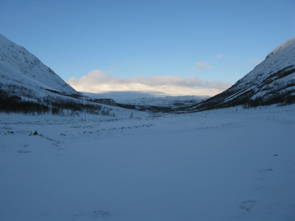 Looking north in Leirdalen as the light fades (3pm)
