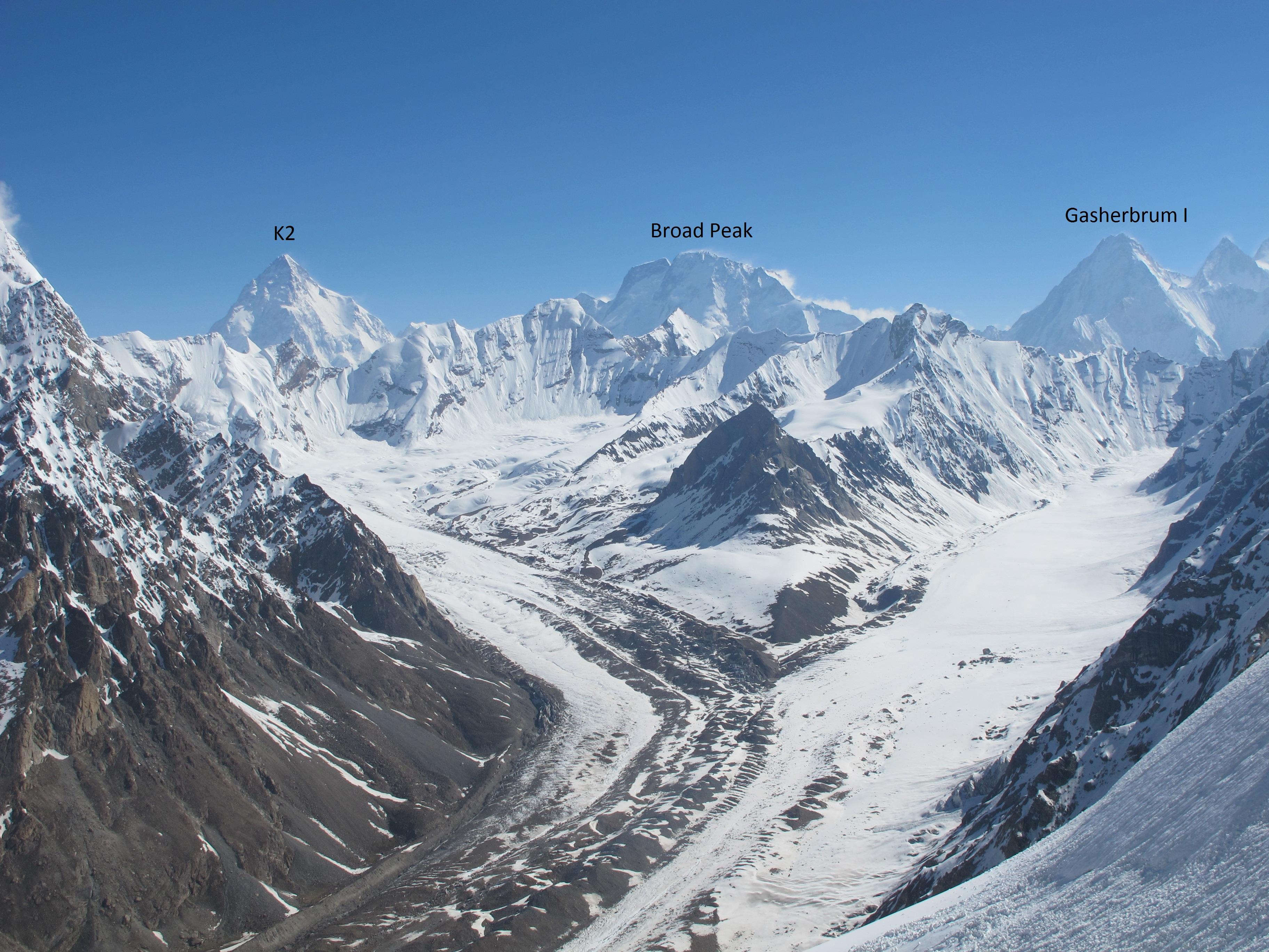 North West Face ...K2 Mountain Bottleneck