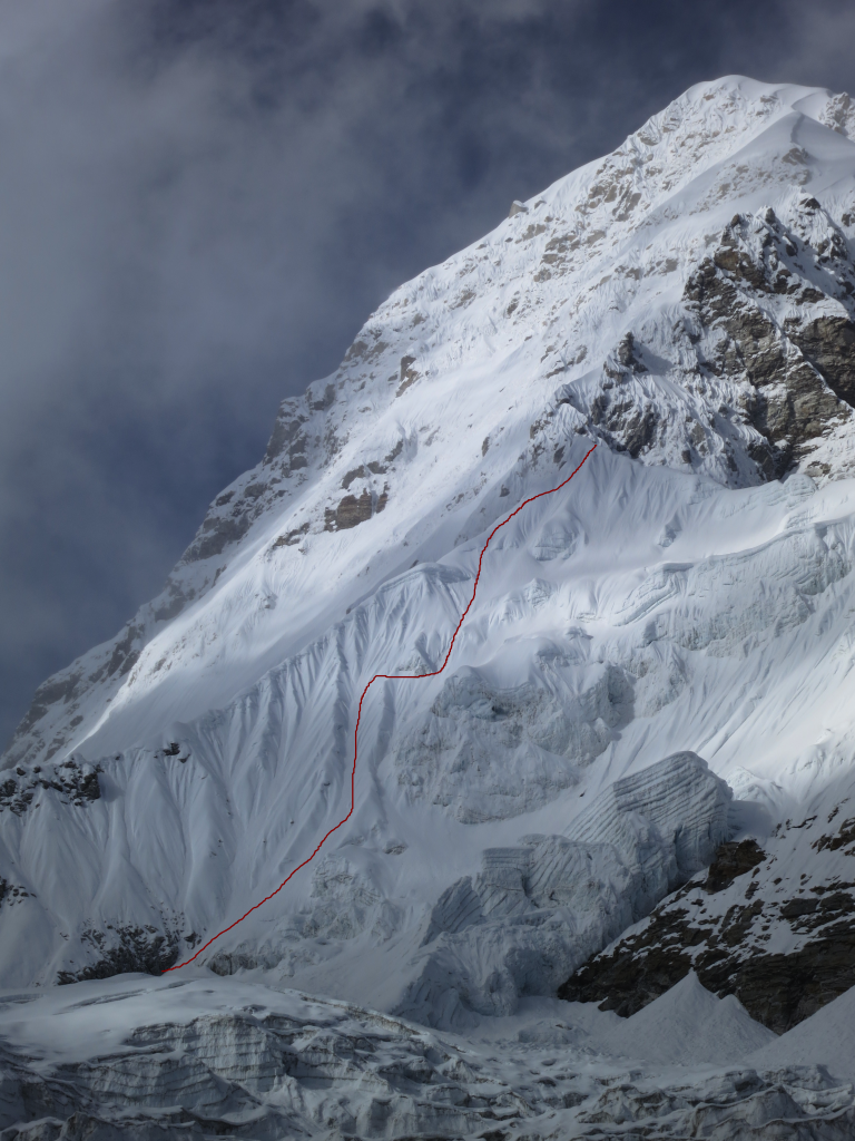 Seb´s Ski Line on South West Face of Pumori (7,161m), Nepal