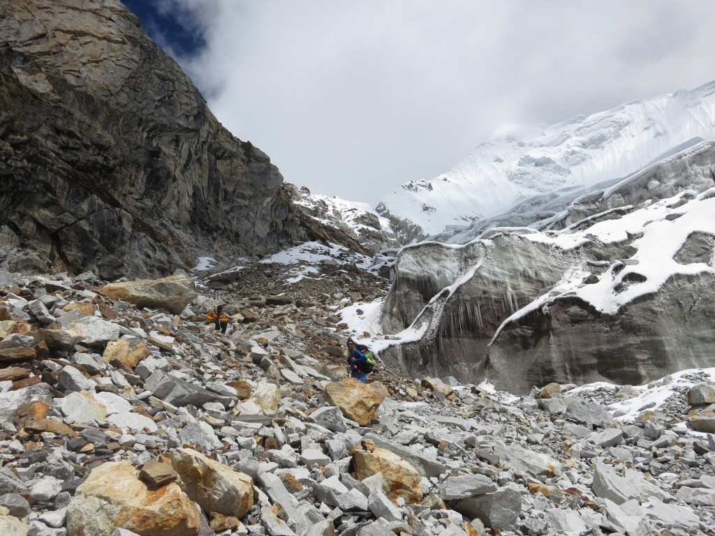 Climbing South West Face of Pumori to establish ABC with Menk and Seb, Nepal