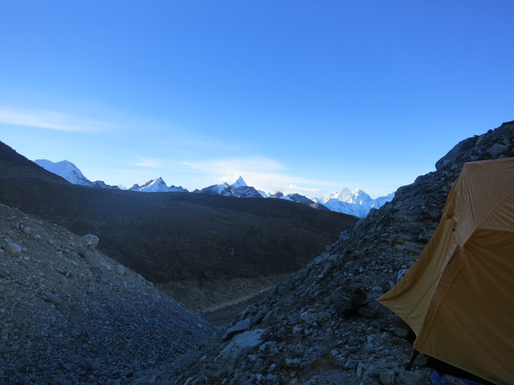 Looking South from Pumori Base Camp at 5,400m, Nepal